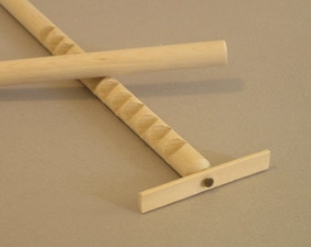 Hooey Stick, Gee Haw, Whimmy Diddle.  Wooden toy with NATURAL wood spinner.  A natural wood toy.