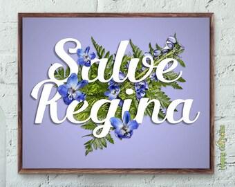 Catholic Art // Salve Regina Print
