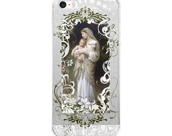 Catholic iPhone Case   Bouguereau iPhone Case   Virgin Mary   iPhone 8 Case   iPhone 7 Case   iPhone X Case   Confirmation gift   Christmas