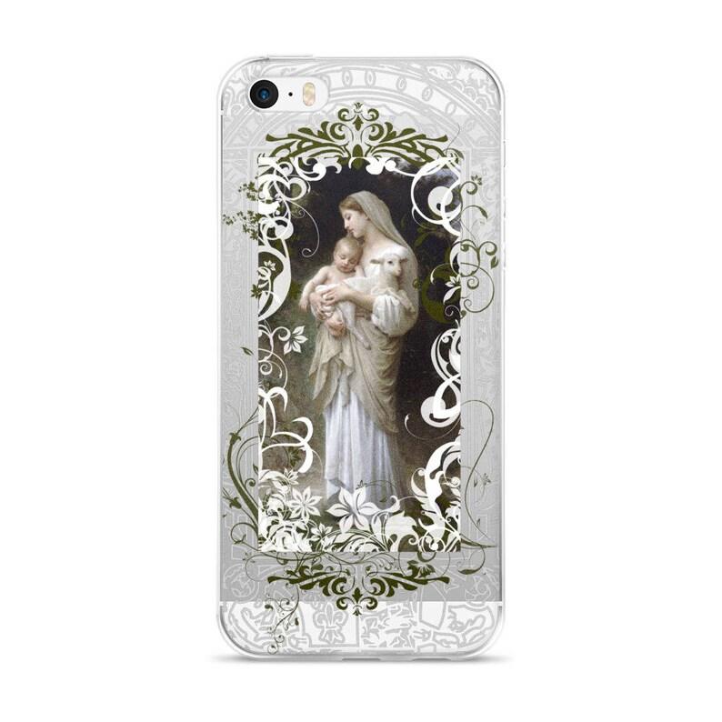 Catholic iPhone Case  Bouguereau iPhone Case  Virgin Mary  image 1
