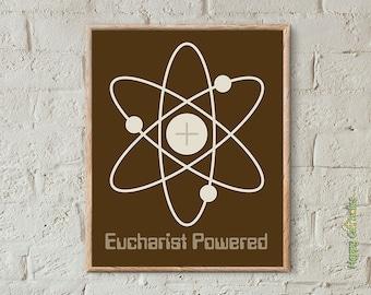 """Catholic Art // Eucharist Powered 8""""x10"""" Print"""
