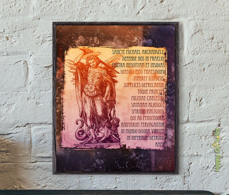 Catholic Art Print // Saint Michael // St. Michael // Saint image 0