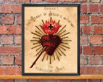 Catholic Art // Sacred Heart of Jesus Print