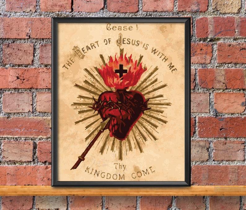 Catholic Art // Sacred Heart of Jesus Print image 1