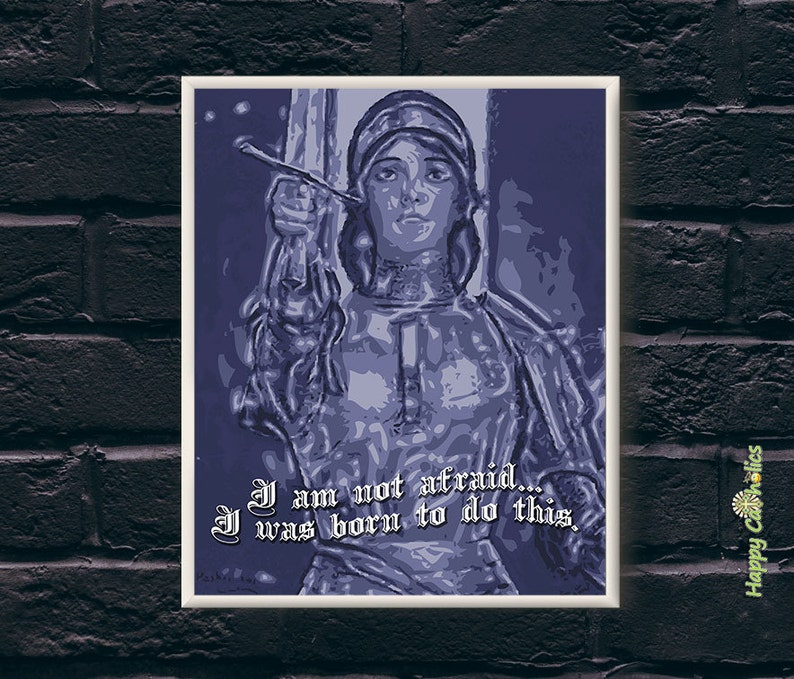 Catholic Art // Joan of Arc  Not Afraid Print image 0