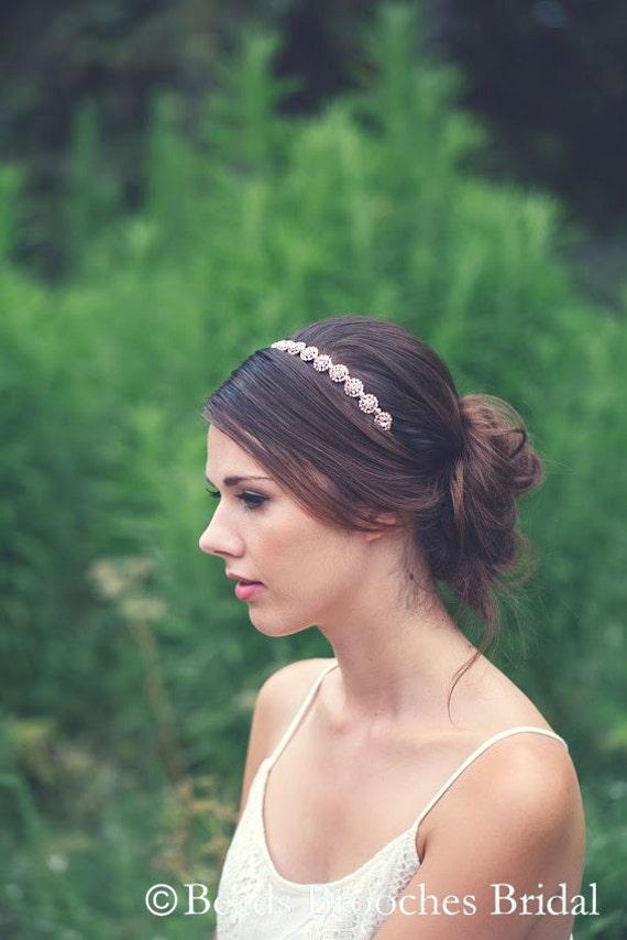 148994a81e21 Wedding HeadbandBridal HeadbandRhinestone Bridal Headpiec