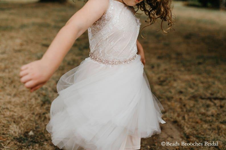 0c675ab9d5f Crystal Flower Girl BeltFlower Girl SashGirl BeltGirl