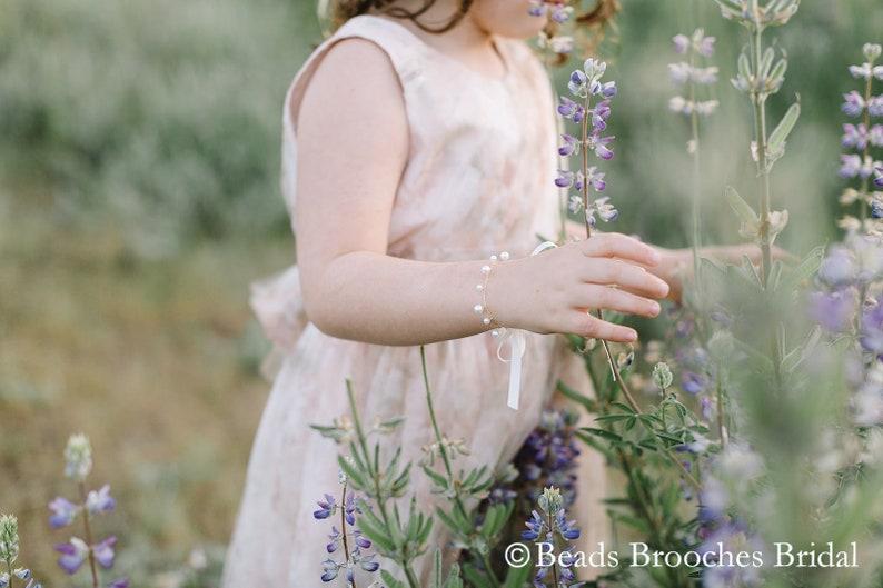 5765e48ce5 Pearl Flower Girl Bracelet, Gold Flower Girl Bracelet, Girls Bracelet,  Flower Girl Gift, Kids Bracelet, Flower Girl Jewelry, Amy Bracelet