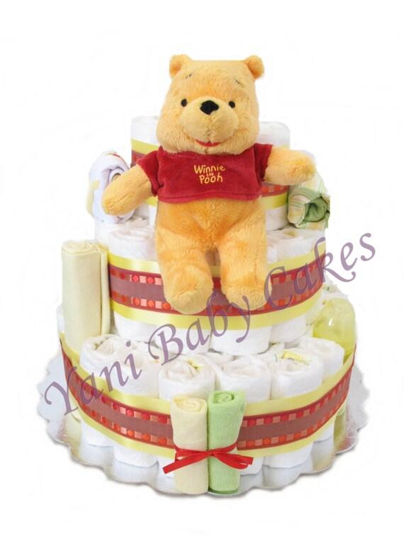 Baby Boy Diaper Cake Baby Shower Centerpiece / Bear Deluxe   Etsy