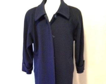 e922ac19778 Womens Size M (10) Forecaster NAVY Wool Winter COAT Long Full Length  Vintage Overcoat