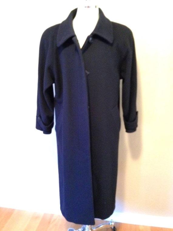 5f5fbffebd9 Womens Size M 10 Forecaster NAVY Wool Winter COAT Long Full