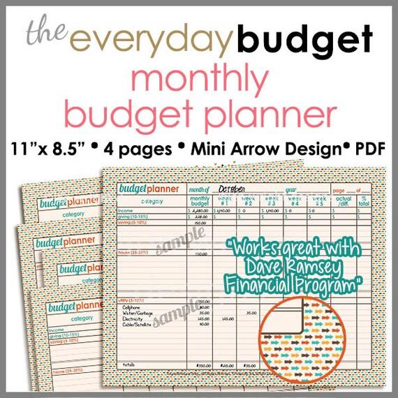 Monatlichen Budget Tracker/Planer zum Ausdrucken-Arbeitsblatt | Etsy