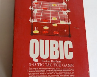 Vintage Qubic Game By Parker Brothers