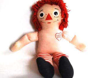 Vintage Raggedy Andy Doll, Nursery Decor