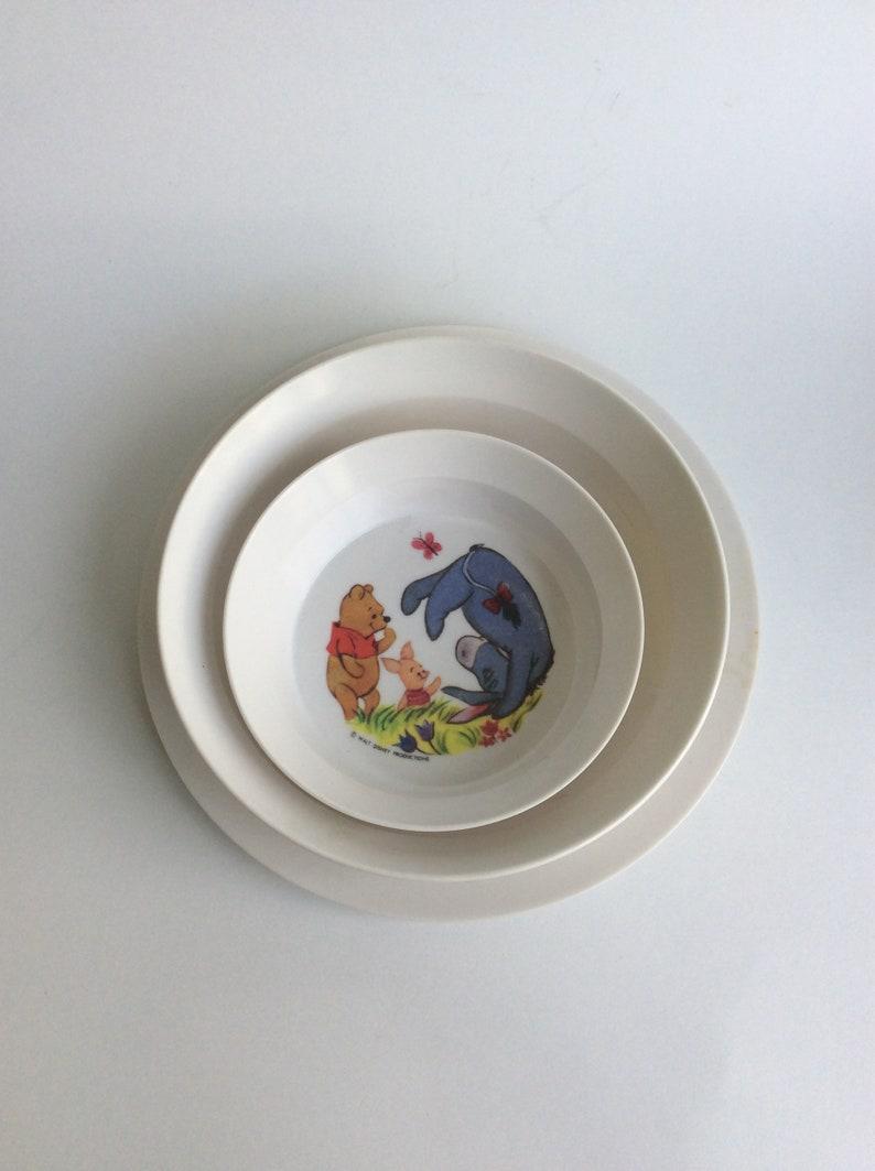Plastic Vintage Winnie the Pooh Dish Set national Home Products Set