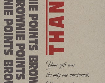 Thank You card, thunderdome of gift giving, Well Played, No. 2202