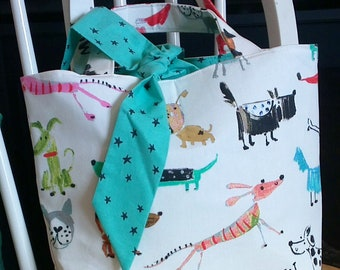 Bow Wowser Canvas Tote Bag