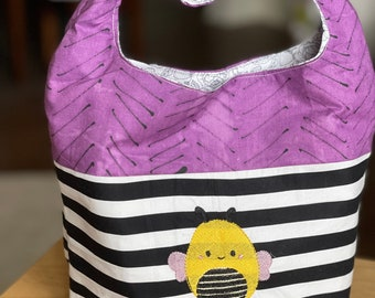 Top Knot Tote Bag- Fun little tote for work, park, beach and more! - Ready to Ship for Free!