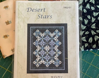 Destash - Sue Beevers Desert Stars Quilt Pattern - New and Unused - Only 1 Available - Ready to Ship for Free!