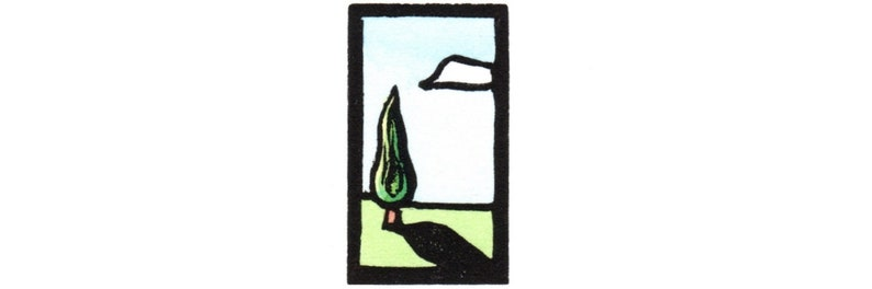 of One Tree by Ken Swanson 1908 Original Linocut