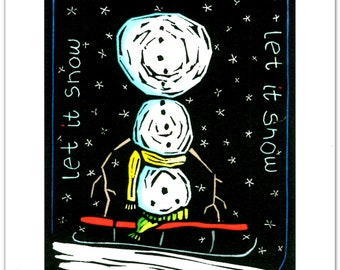 Greeting Cards (12) from a Linocut by Ken Swanson (0916)