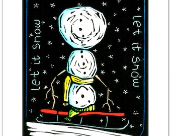Greeting Cards (6) from a Linocut by Ken Swanson (0916)