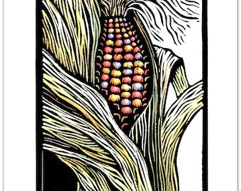 Greeting Card (6) from an Original Linocut By Ken Swanson (8704)