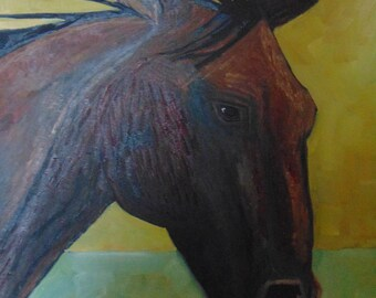 Horse From The County Fair Original Oil Painting