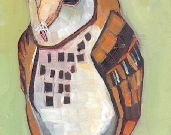 Barn Owl Original Oil Painting