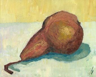 Pear Original Oil Painting