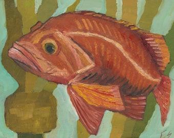 Rockfish Original oil painting