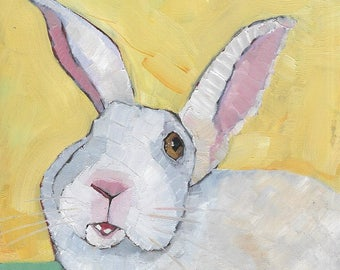 Rabbit From the County Fair Original Oil Painting