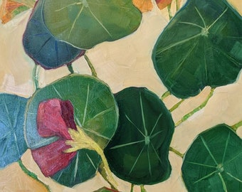 Nasturtium original oil painting