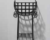 French Country Cast Iron Tiered Metal Plant Stand