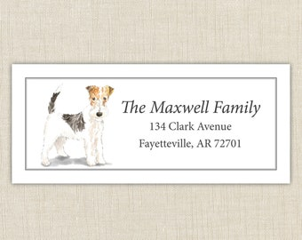 dog address labels etsy
