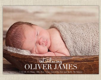 baby boy birth announcement-Introducing Birth Announcement