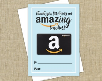amazon gift card holder instant download amazon gift card holder for teachers