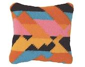 Needlepoint Kit, Tapestry kit, Mini cross stitch kit, Modern Geometric, Little Canyon No1