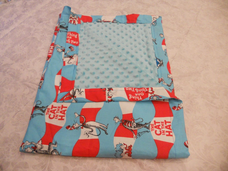 The Cat in the Hat Minky Baby to Toddler Blanket image 2