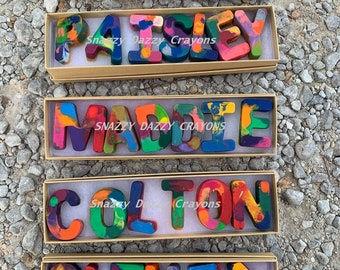 Personalized Crayon Names, Party Favors, Stocking Stuffers, Easter Basket, Flower Girl Gift, Birthday Party Favors