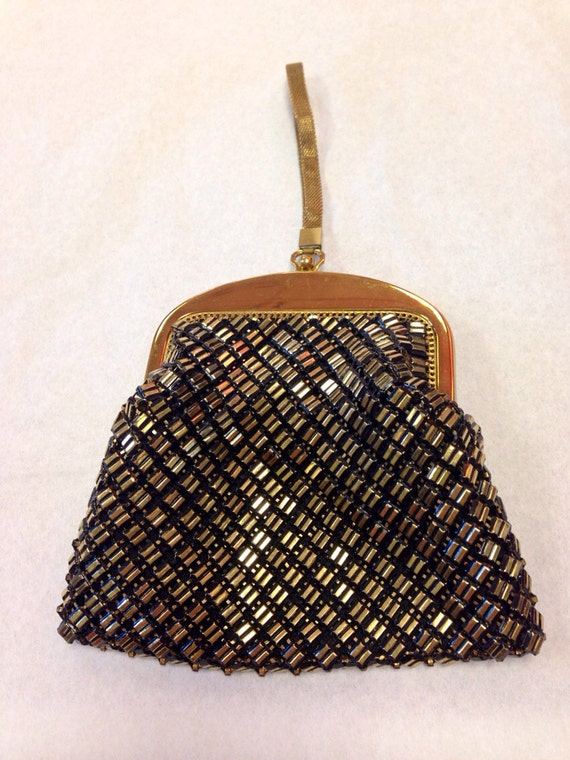Whiting & Davis Gold Metal Handbag // Evening Bag