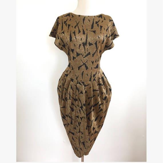 80er Jahre-Metallic-Partei-Kleid