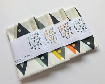 Alphabet Tea Towel Kitchen Towel