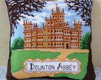 A Visit to Downton Abbey Mini Cushion Cross Stitch Kit