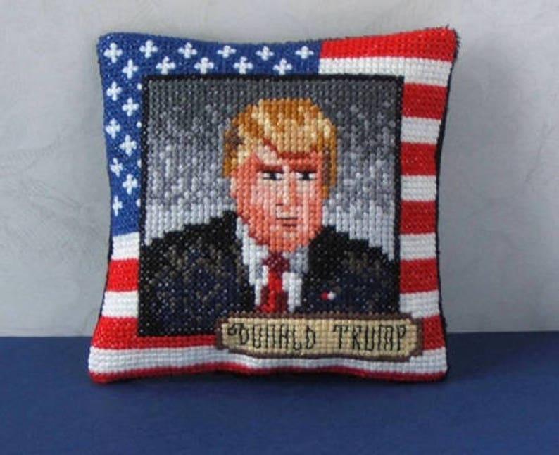 Donald Trump Pincushion Cross Stitch Kit
