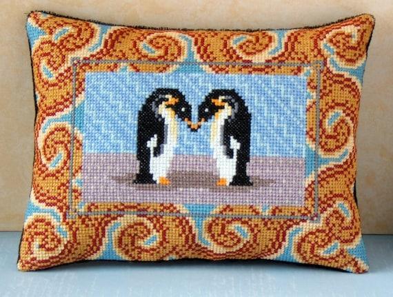 Snow Tiger Mini Cushion Cross Stitch Kit Sheena Rogers Designs