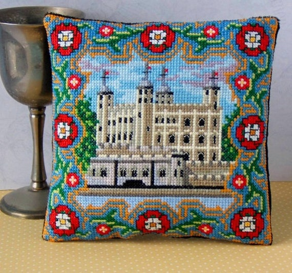A Joyful Christmas Mini Cushion Cross Stitch Kit Sheena Rogers Designs