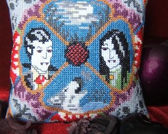 Vampires and Werewolves Mini Cushion Cross Stitch Kit