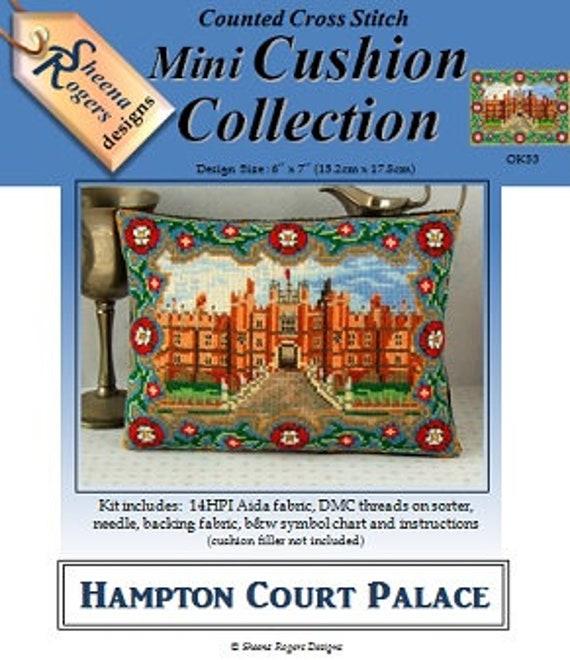 Jane Seymour Triptych Mini Cushion Cross Stitch Kit Sheena Rogers Designs