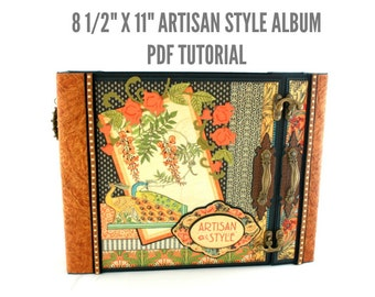 "8 1/2""x11"" Artisan Style Scrapbook Album PDF Tutorial"